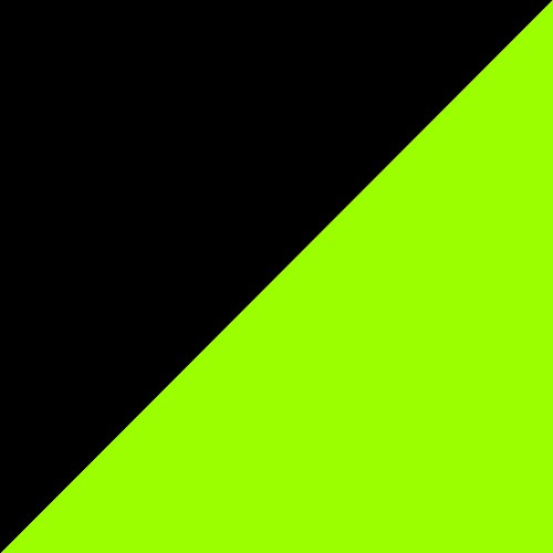 Black - Green Fluo